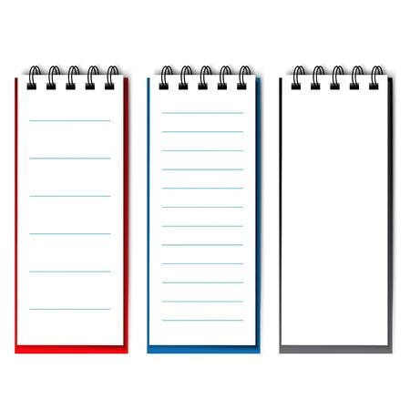 lege open notebook - illustratie