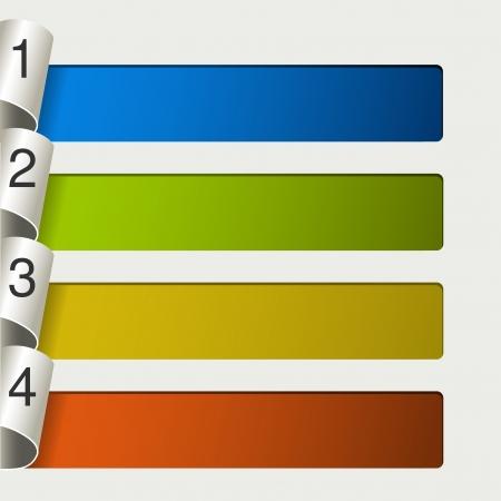 следующий: веб-шаблона - 4 шага, варианты, баннеры - иллюстрация