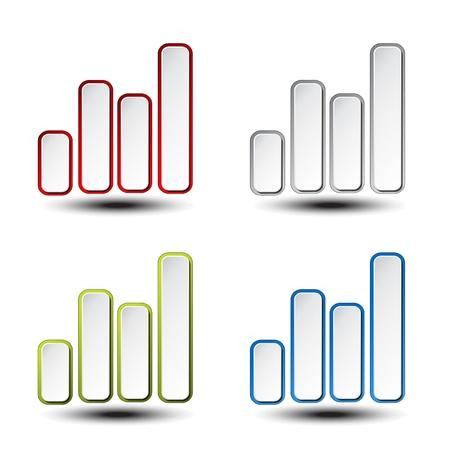 statistician: set of statistic graph - symbol, icon - illustration