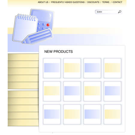 web template - webpage office supplies - illustration Stock Vector - 19506237