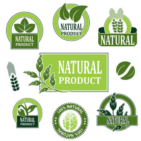 nature symbols for natural product - illustration Vector