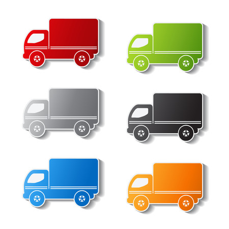 truck symbols - delivery icon, sticker illustration Vector