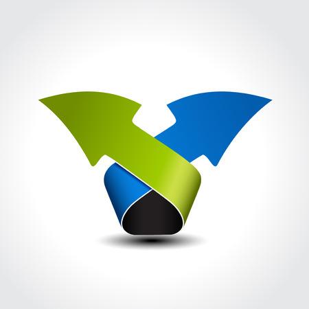 business arrow symbol, options, steps, web layout, menu template illustration Vector