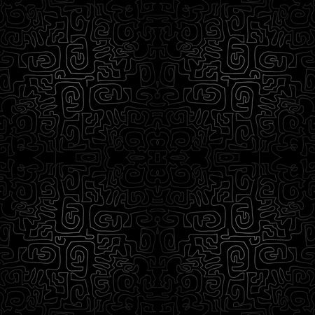 garabatos: negro sin fisuras de fondo - fondo de pantalla con garabatos moderno, ilustraci�n laberinto