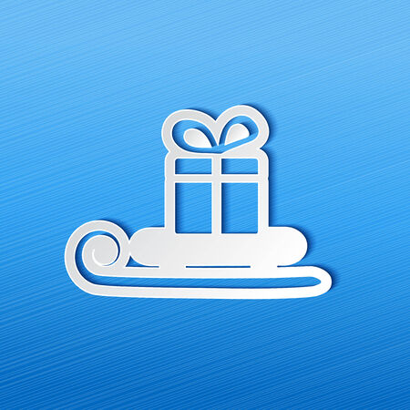 symbol of Christmas, sleigh with gift for business offer illustration Vector