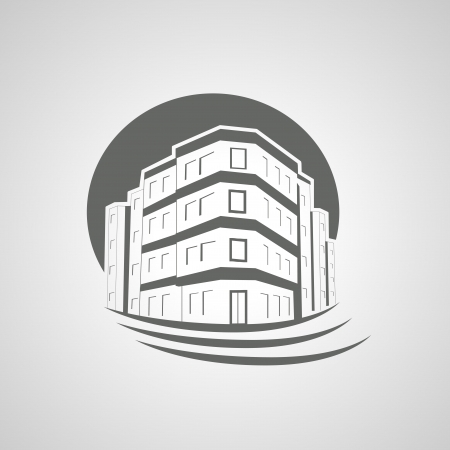 Vector Symbol Of Home House Icon Realty Silhouette Royalty Free