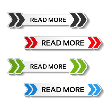 reads: Vector read more buttons with arrows - illustration Illustration
