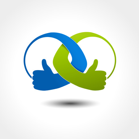 choices: Vector unity icon, best choice symbol, gesture hand - illustration Illustration