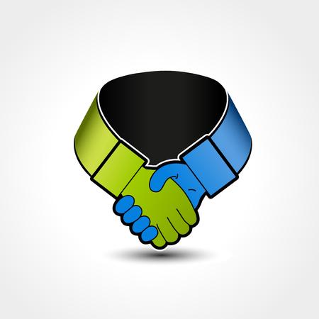 Vector gesture hand - handshake symbol, label - illustration Illustration
