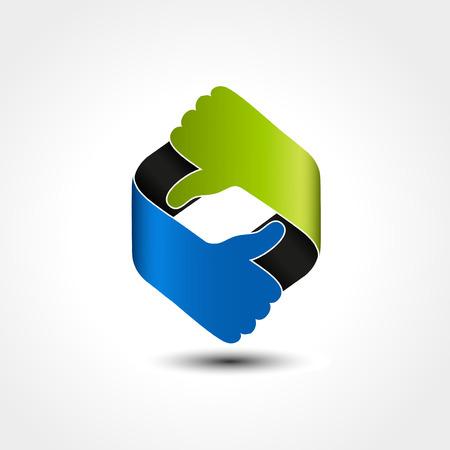 Vector best choice symbol - hand gesture - illustration
