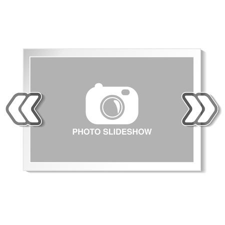 slideshow: Vector frame for website slideshow, presentation or series of projected images, photographic slides or online photo album layout - illustration Illustration
