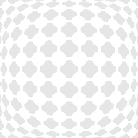 bulging: Vector dotted monochrome pattern. Modern geometric texture in grey color. Stylish bulging tiles. 3d abstract dynamic background created crosses and dots - illustration Illustration