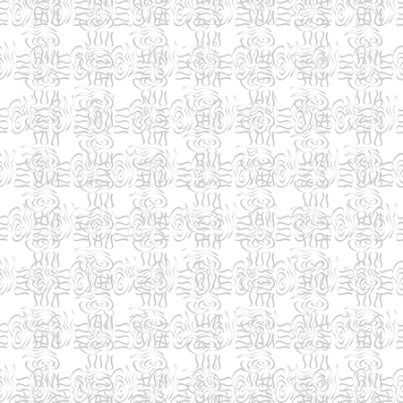 grey background texture: Vector seamless monochrome pattern. Retro texture in grey color. Stylish hand drawing grid, black and white background - illustration