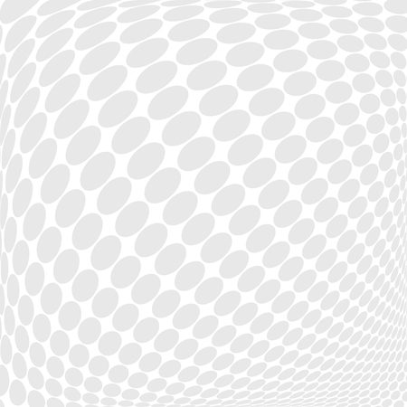 grey background texture: Vector dotted monochrome pattern. Modern geometric texture in grey color. Stylish bulging tiles. 3d abstract dynamic background created dots. Halftone effect - illustration