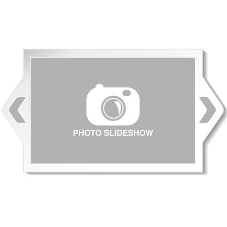 website layout: Vector frame for website slideshow, presentation or series of projected images, photographic slides or online photo album layout - illustration Illustration