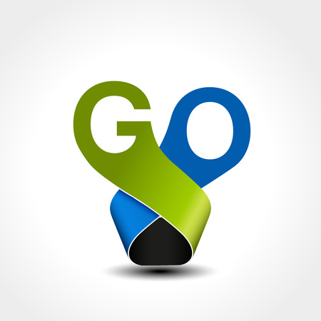 Vectro button with text go. Pointer on web. Symbol of next, read more, play etc. - illustration