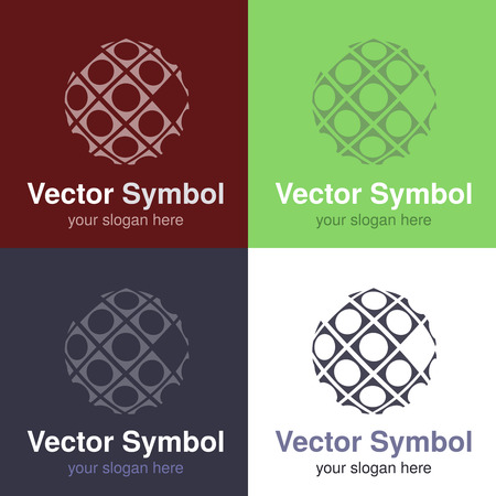 internet globe: Vector set of abstract green, red, blue and black white logo design of globe, emblems for internet connection or web - circles, rounded symbols - illustration Stock Photo