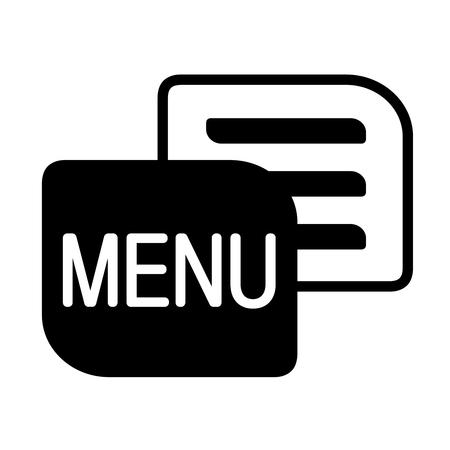 Vector black menu icon isolated on white background. Simple symbol for navigation. Button for more use. - illustration Ilustracja