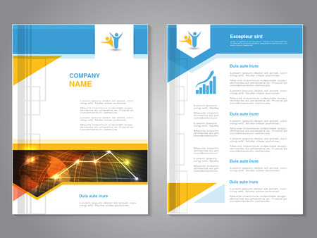 Vector modern brochure with globe design, abstract flyer with technology background. Layout template with design of signal wireless. Worldwide connection. Poster. Magazine cover. - illustration Ilustracja