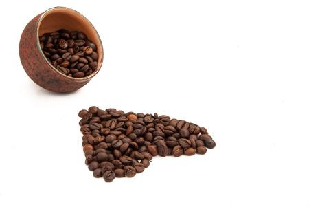 caffiene: Coffee beans shaped like heart Stock Photo