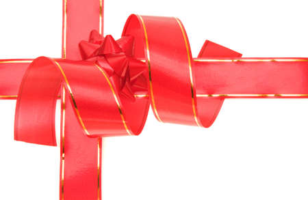 Red bow and ribbon isolated on a white background Stock Photo - 2074767