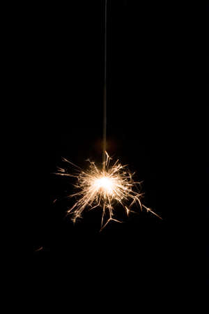 glow stick: sparklers light on black background Stock Photo