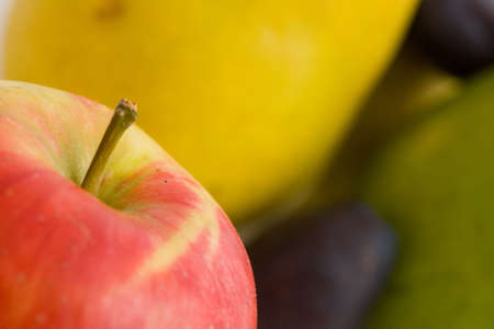 close up of red apple on fruity colors background Stock Photo - 3667595