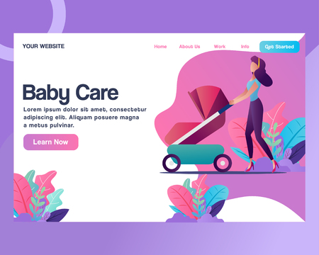 Web Templates Design For Baby Shop