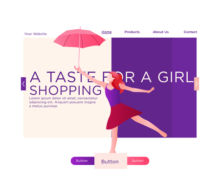 Web Design Template For Beauty Shop