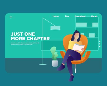 Web Design Template For Book Store. E Book