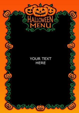 Halloween Menu Template  Vector