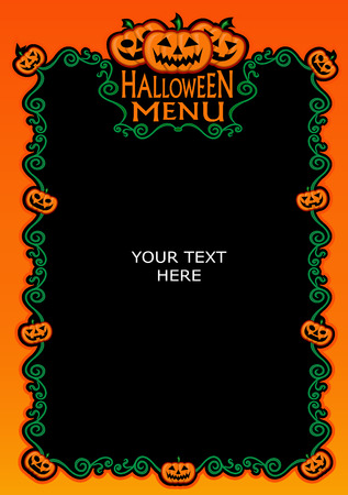 Halloween Menu Template Stock Vector - 8777688