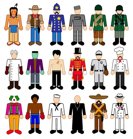 Klassieke karakter cijfers  Stock Illustratie