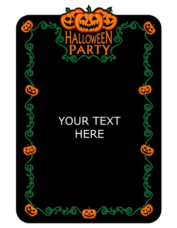 pumpkin patch: Halloween Party Invitation  Illustration