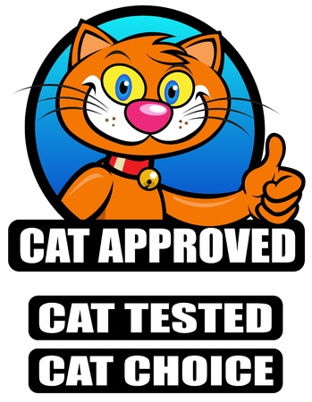 Cat Approved  Tested  Choice Seal  Vector