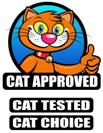 Geteste en goedgekeurde  keuze zegel van de kat