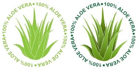 Aloe Vera Seals Stock Vector - 9674538