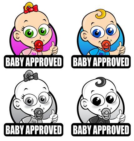 Bebé aprobado sellos