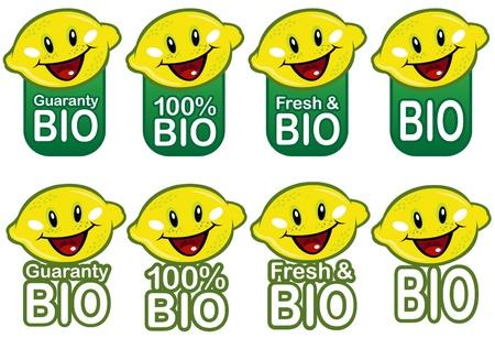 Lemon Bio Seal in vectors  Stock Vector - 9674559