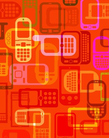 Cellphones and Smartphones Background  Stock Photo