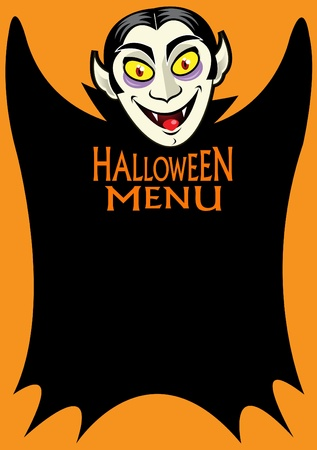 Halloween Dracula's Menu  Stock Vector - 9674460