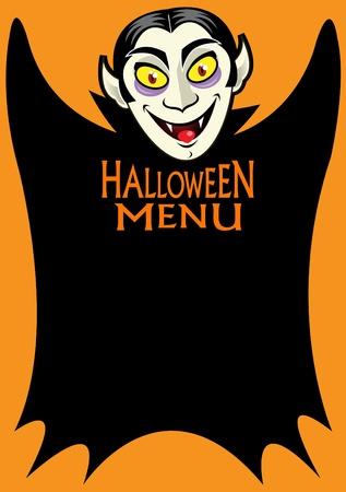 Halloween Dracula's Menu Stock Vector - 9674460