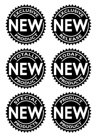 Nieuwe Product Seal Vector Illustratie