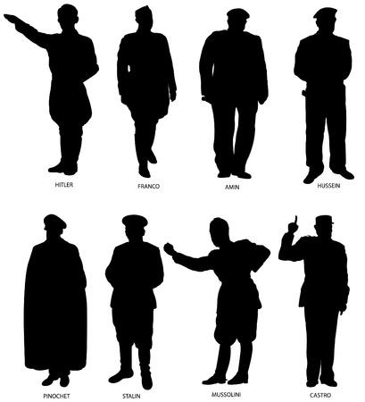 Grands dictateurs silhouettes Vecteurs