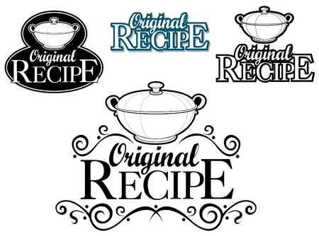 Original Recipe Seal  Mark  Vector