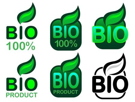 Bio Product and Bio 100% Icon / Seal Stock Vector - 9674492