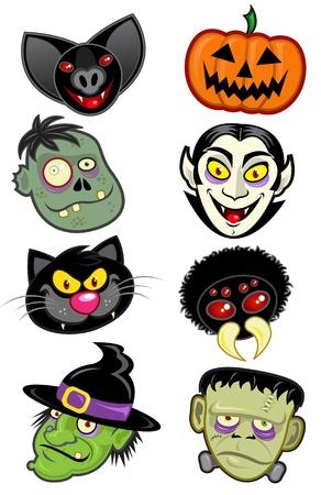 cartoon halloween: Halloween Characters