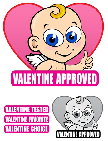 Valentine Approved Seal  Vector