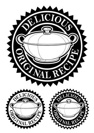 Original Recipe Emblem Stock Vector - 9674545