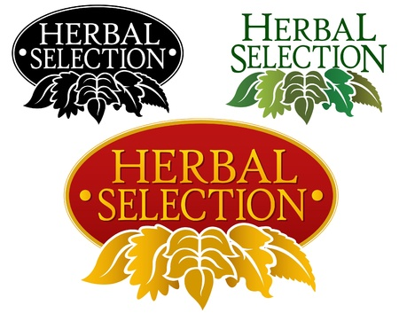de hierbas: Sello de selecci�n hierbas